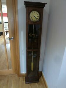 Early Synchronome floor standing oak cased Master Clock