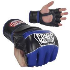 NEW COMBAT SPORTS MMA TRAINING FIGHT GLOVES FG3S BLUE/BLACK