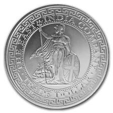 2018 St. Helena 1 oz .999 Silver British Trade Dollar Restrike BU Capsuled Coin