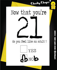 21st Twenty First  Birthday Greetings Card Funny Adult Rude Quirky Insult  c65