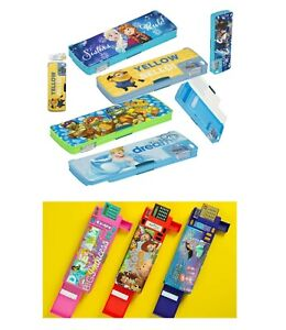 Double Sided Hard Shell Kids Gadget Characters Pencil Case Stationary Box Gift3+