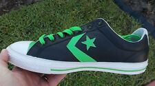 Converse STAR PLAYER EV  LO TOP LEATHER BLACK /  LIME GREEN  136770C SIZE 11 NEW