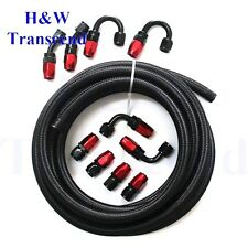 AN8 Stainless Steel Braided OIL FUEL line hose 8AN +Fitting Hose End Adaptor 3m