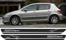 Peugeot 307 Gti Xsi Rayas Laterales escotilla trasera s Calcomanías Gráficos Pegatinas