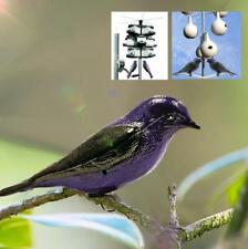 Waterproof Realistic Purple W/ Mount Simulation Bird Decoy Patio Garden