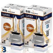 2 x D3S LUNEX XENON LÁMPARAS BOMBILLA PK32d-5 Original 35W 4300K Colour Match