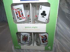 Luminarc Dbl Old Fashioned Glasses-Playing Card PatternNEW13.25oz  026102 971529