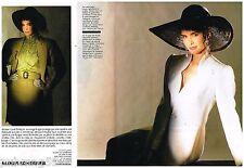 Publicité Advertising 1986 (2 pages) Haute Couture Jean Louis Scherrer