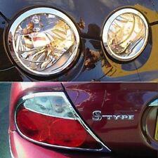 Jaguar S Type Chrome Headlight and Rear Light Trims 1999 to 2003