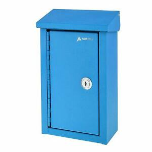 AdirOffice Steel Outdoor Home and Business Large Key Drop Box Storage Mailbox