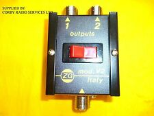 CO AX ZETAGI V2 ANTENNA SWITCH FOR CB RADIO 2 POSITION UP TO 50 MHz pwr 500W