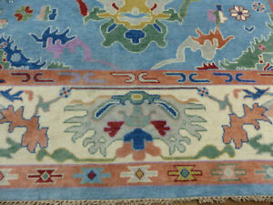 """9'2""""x11'7"""" New Turkish Oushak Hand knotted wool Oriental Transitional area rug"""