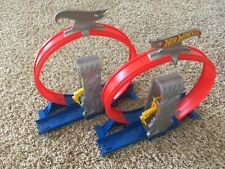 Hot Wheels Track Builder Loop Rubber Band Launcher Lot of 2