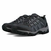 Hi-Tec Mens Jaguar Walking Shoes Grey Sports Outdoors Breathable Suede Leather