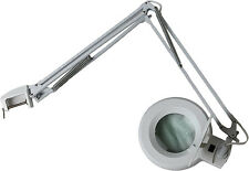 Table Magnifier - Illuminated, White, 3x, 4.75in.,