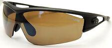 Vintage TIFOSI Sunglasses Model LOGIC TG830 Matte Black Frames Brown Lenses Nice