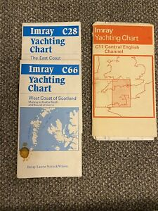 Marine Yachting Sailing Charts Imray C11 C28 C66 Charity Sale For RNLI