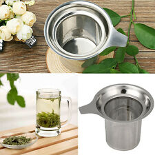 Reusable Stainless Steel Mesh Tea Infuser Strainer Loose Tea Leaf Spice Filter