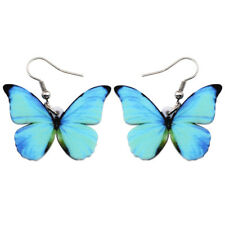Acrylic Menelaus Butterfly Earrings Insect New Jewelry For Women Girl Gift Charm