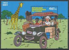 [P612] Belgium 2010 Tintin Congo sheet VF MNH with RED Shangai Expo OVPT