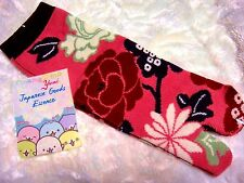 NINJA Tabi Socks botan kiku -pink 2 toe-socks wagara  from JAPAN
