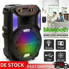 Bluetooth Lautsprecher Karaoke Party LED Wireless  DJ Sound mit FM-Radio / USB