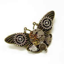 steampunk gothic punk butterfly watch parts collar brooch pins pendant jewelry
