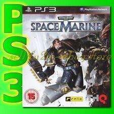 PLAYSTATION 3 SPACE MARINE PAL  SONY PS3 SPACEMARINE WARHAMMER 40000 [BN]