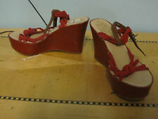 NEW Miss Trish Target red rope sandals wedges sz 6