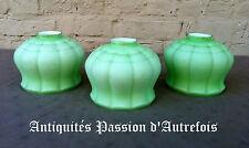 B20140343 - 3 bobèches vertes en verre épais - Très bon état - Objets récents