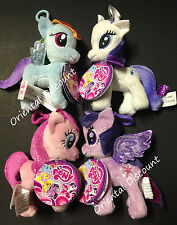 "4 PCS. Aurora My Little Pony Pinkie Pie Rainbow Dash Rarity Twilight 4.5"" Clip"