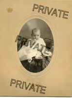 Antique Photo-Los Angeles, California - Cute Baby Sitting, Big Light Eyes