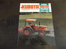 KUBOTA M4950 2WD / 4WD DIESEL TRACTOR BROCHURE M4950DT