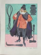 17th Century Physician Color Print by Warja Honegger-Lavater 1962