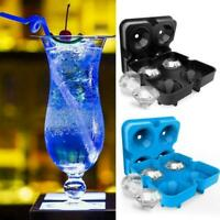 Silicone 3D Ice Cube Tray Diamond Shape Ice Mould 4 Cavity Ice Ball Maker H S6S6