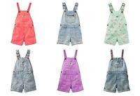 Infant Girl OSHKOSH B'Gosh Shortalls Overall Shorts Sizes 3 6 9 12 18 24 Mo. NWT