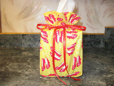 Wizard of Oz Dorothys red slippers cotton Fabric squareTissue Box Cover handmade