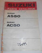 1970 70 SUZUKI AS50 AC50 PARTS CATALOG SHOP SERVICE REPAIR MANUAL Catalogue 50