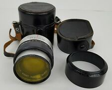 Vintage UV Topcor 100MM 1:4 Lens 9727772 w/ Leather Case & Extras Made In Japan