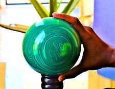 Large 130MM Green Malachite Congo Chakra Healing Power Aura Sphere W/Stand