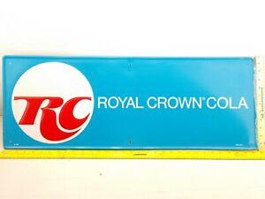 1960s RC COLA Royal Crown Cola Embossed Self-Framed Advertising Sign 32x12 MCA