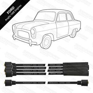 Ford Anglia/100E/Poplar Powerspark 8mm Performance Silicon HT Leads - Black