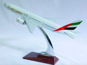 Emirates Medium  Plane Model B777-200  On Stand Apx 32Cm Solid Resin