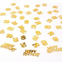 30/40/50/60th Gold Birthday Party Table Confetti Scatter Sprinkle Throwing Decor