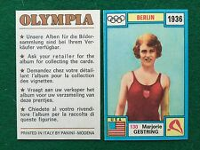 OLYMPIA 1972 n.130 Marjorie GESTRING USA TUFFI , Figurina Sticker Panini (NEW)