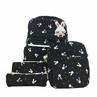 4Pcs Women Casual Backpack Girl School Shoulder Bag Rucksack Travel Bags Satchel