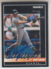 Autographed 1992 Pinnacle Cory Snyder - Giants