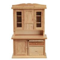 Dolls House Light Oak Flour Bin Dresser Hoosier Larder Cabinet Kitchen Furniture
