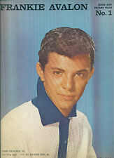 "FRANKIE AVALON ""SONG AND PICTURE FOLIO #1"" PIANO/V/GUITAR CHORDS MUSIC BOOK 1960"