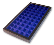 1 Glass Display Case Blue 50 divided compartments Pin Badge Sweetheart Scouts
